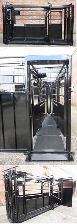 Unistock Extended Manual Cattle Squeeze Crate 2