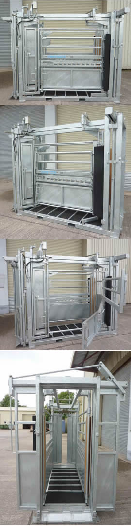 Unistock Galvanized Manual Parallel Cattle Squeeze Crate 2
